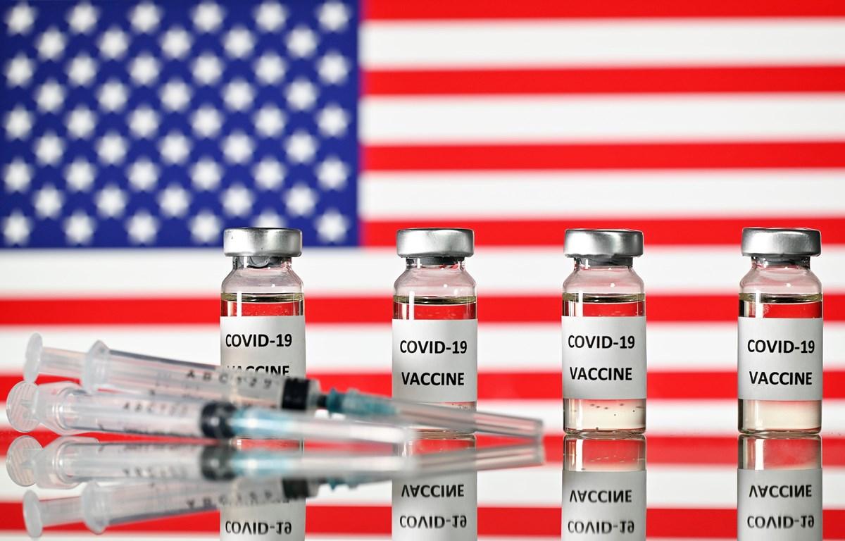 Hình ảnh mô phỏng vắcxin ngừa COVID-19 của Mỹ. (Ảnh: AFP/TTXVN)