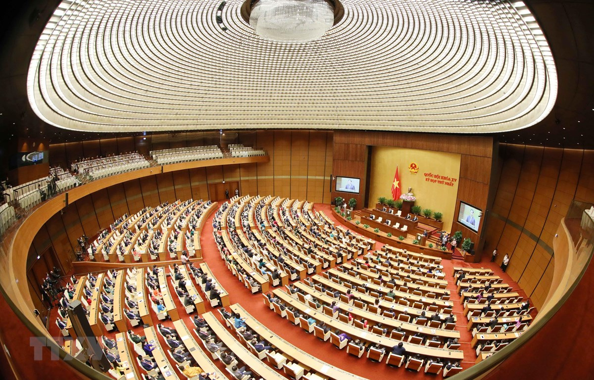 Toàn cảnh phiên họp kỳ họp thứ nhất Quốc hội khóa XV. (Ảnh: Phương Hoa/TTXVN)