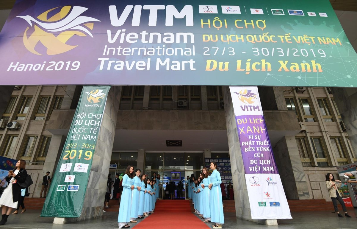 Hội chợ du lịch quốc tế Việt Nam 2019 đã chính thức khai mạc. (Ảnh: PV/Vietnam+)