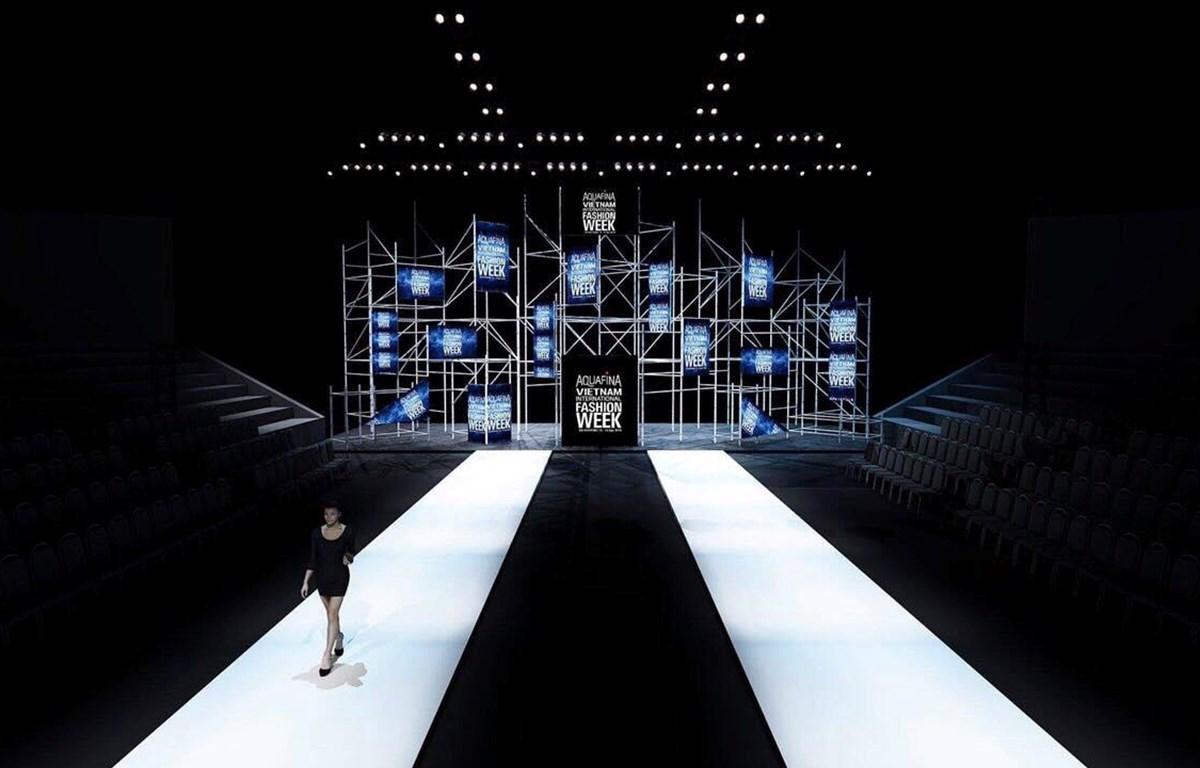 Sân khấu được thiết kế tối giản nhưng ấn tượng. (Ảnh: BTC)