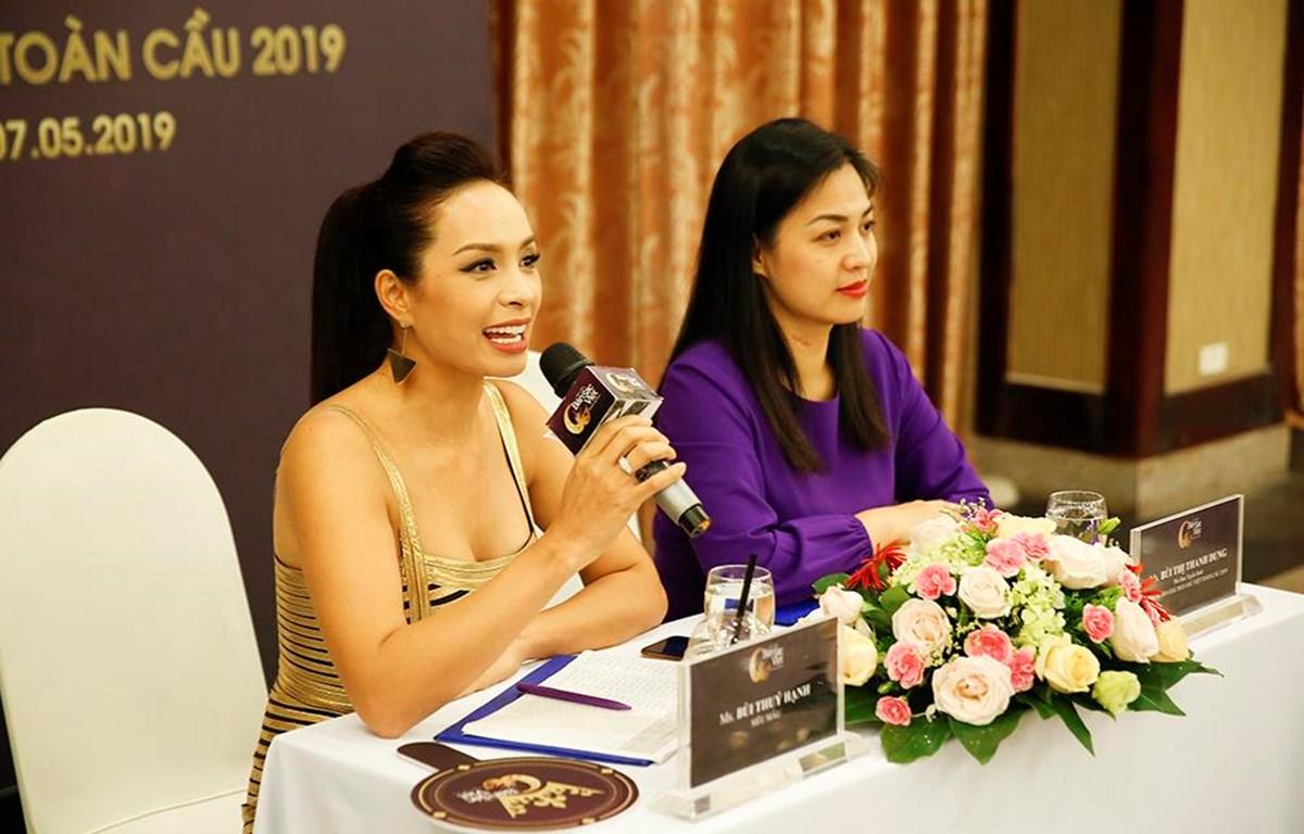 Giám khảo Thúy Hạnh ở vòng sơ tuyển mở rộng tại Thái Nguyên. (Ảnh: BTC)