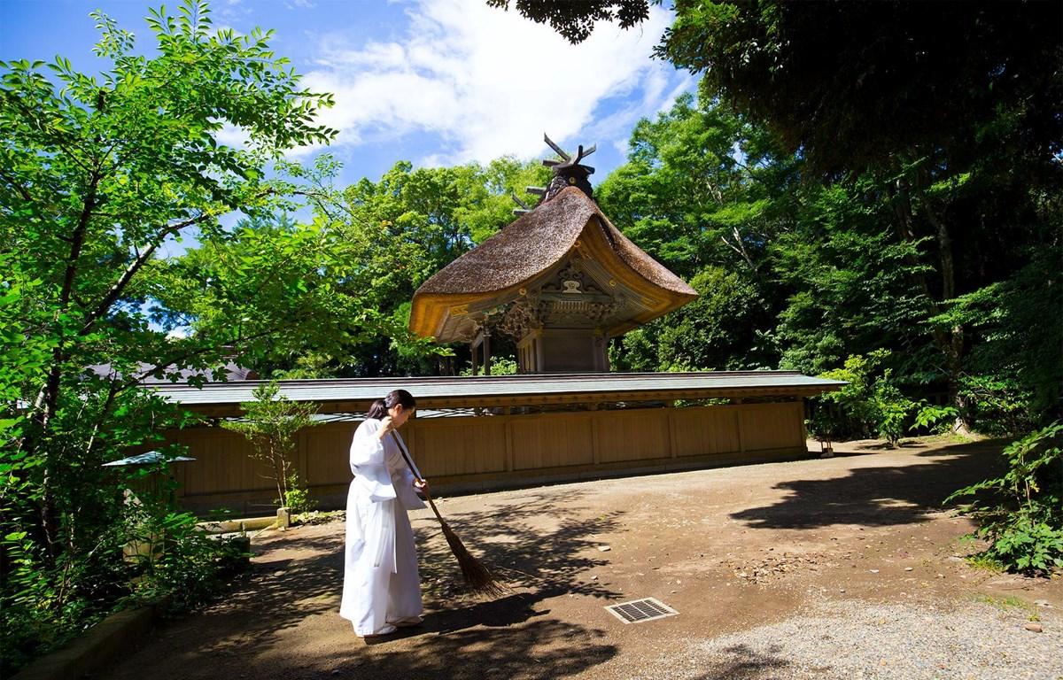Một ngôi đền ở Nhật Bản. (Ảnh: CTV/Vietnam+)