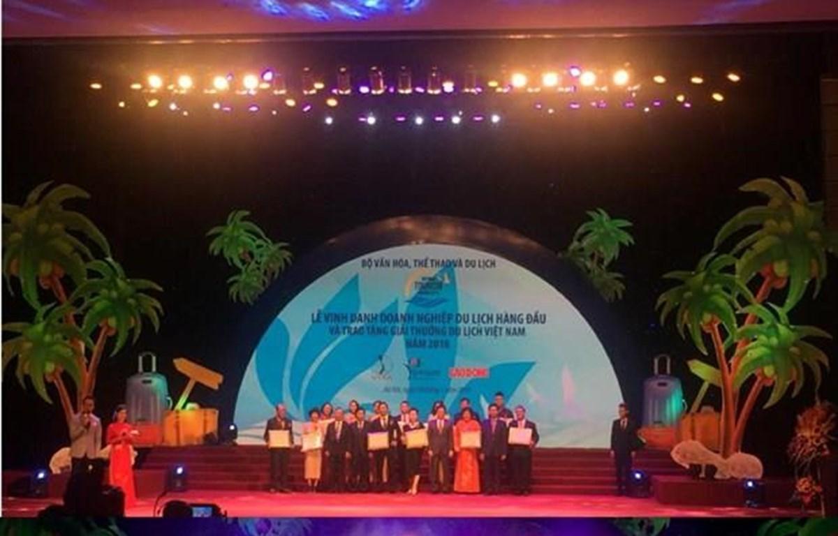 Lễ trao Giải thưởng Du lịch Việt Nam 2018. (Ảnh: Thu Trang/Vietnam+)