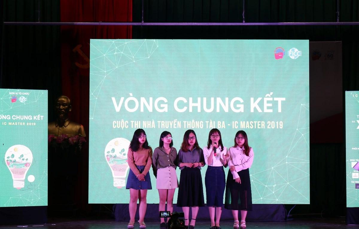 """Nhóm """"The Mind"""" trong đêm chung kết. (Ảnh: CTV/Vietnam+)"""