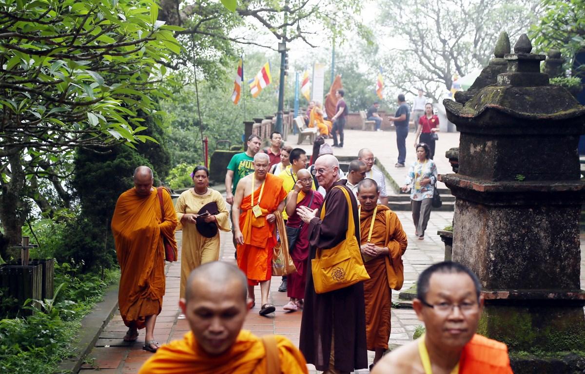 Du khách quốc tế thăm quan các điểm di tích lịch sử của Việt Nam. (Ảnh: CTV)