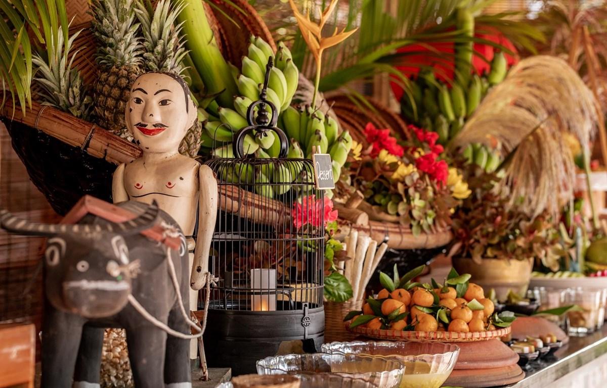 Decor không gian quầy đồ ăn tráng miệng. (Ảnh: CTV/Vietnam+)