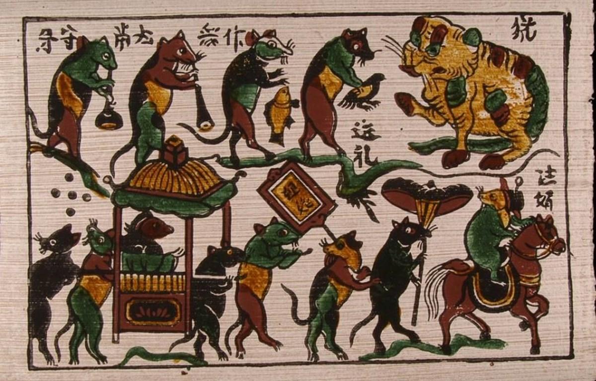 Mẫu tranh Đông Hồ truyền thống. (Ảnh tư liệu)
