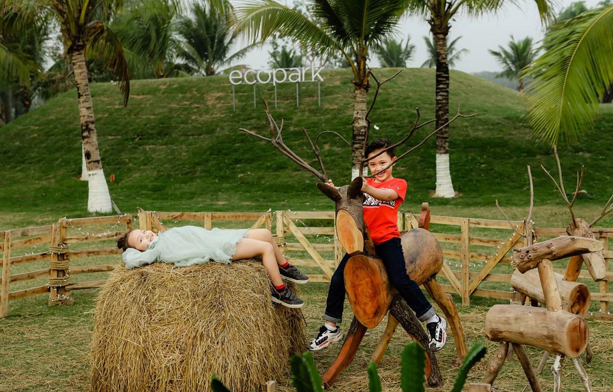 Một góc nhỏ khu vui chơi dành cho trẻ em. (Ảnh: CTV/Vietnam+)