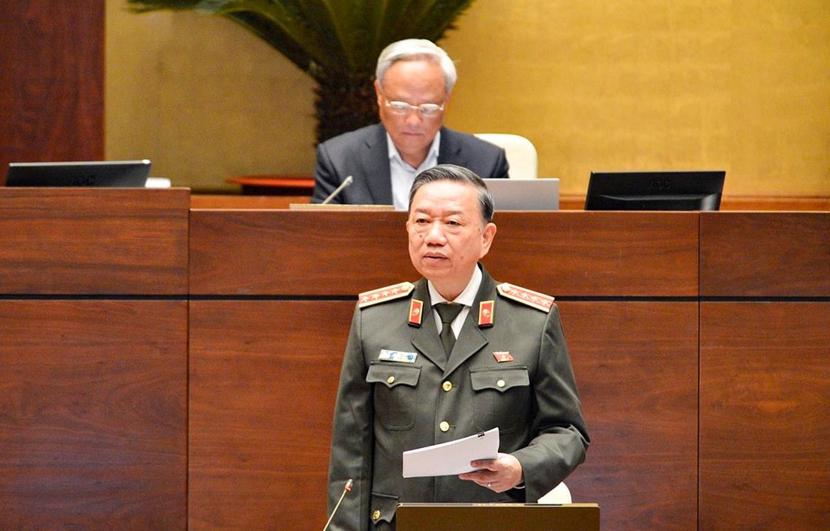 Bộ trưởng Tô Lâm. (Ảnh: CTV/Vietnam+)