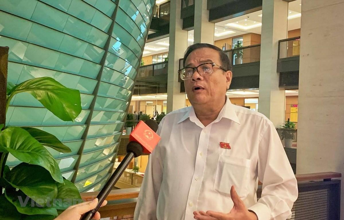 Đại biểu Huỳnh Thanh Cảnh, Phó Bí thư Thường trực Tỉnh ủy Bình Thuận. (Ảnh: Xuân Mai/Vietnam+)