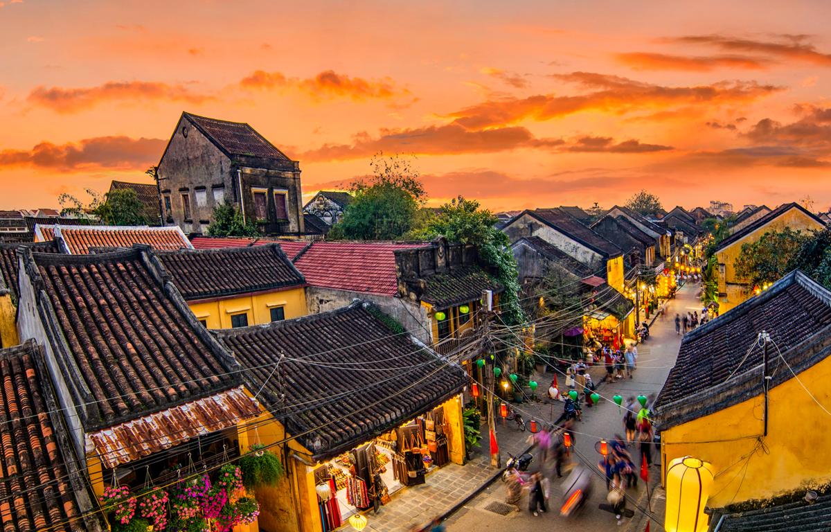 Phố cổ Hội An về đêm. (Ảnh: CTV/Vietnam+)