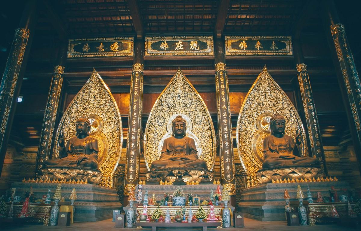 Điện Tam Bảo trong quần thể chùa Tam Chúc. (Ảnh: Nam Nguyễn/Vietnam+)