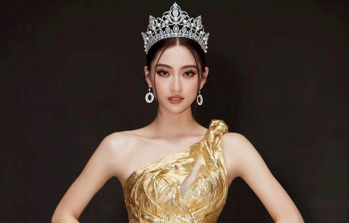 Hoa hậu Lương Thùy Linh. (Ảnh: CTV/Vietnam+)