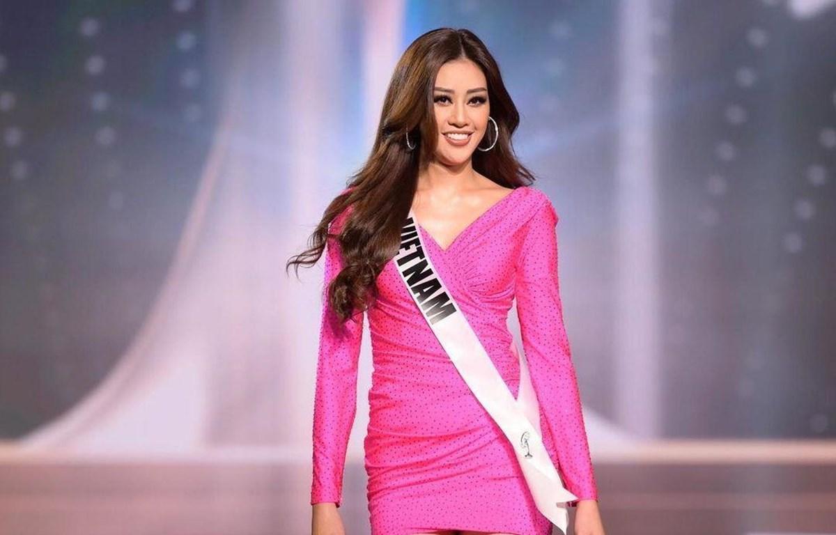 Hình ảnh Khánh Vân trong đêm chung kết. (Ảnh: Miss Universe)