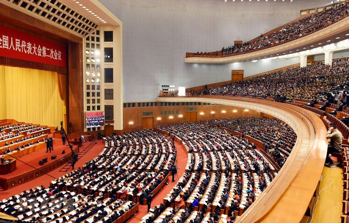 Toàn cảnh Lễ khai mạc Kỳ họp thứ hai Quốc hội Trung Quốc khóa XIII. (Ảnh: Vĩnh Hà/TTXVN)