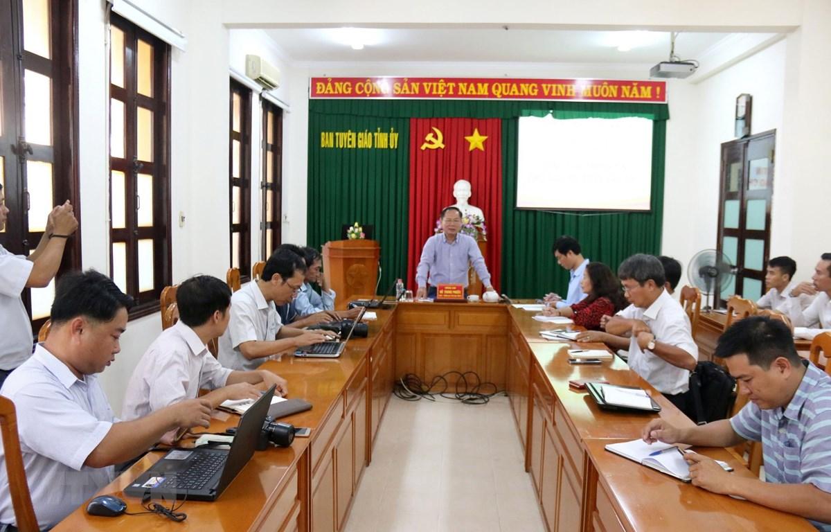Quang cảnh Hội nghị cung cấp thông tin cho các cơ quan báo chí. (Ảnh: Nguyễn Thanh/TTXVN)