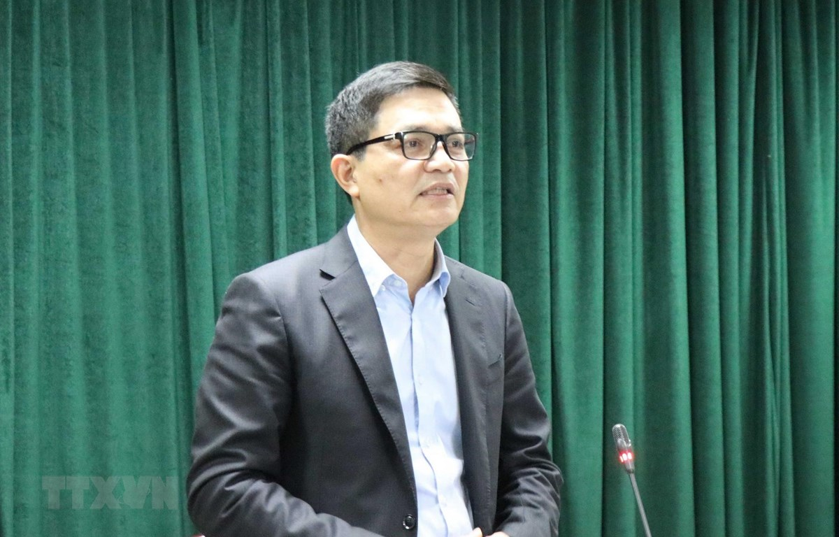 Ông Nguyễn Thanh Phong, Cục trưởng Cục An toàn thực phẩm phát biểu tại buổi làm việc. (Ảnh: Thanh Thương/TTXVN)