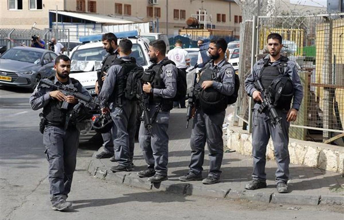 Lực lượng an ninh Israel tại Bờ Tây. (Ảnh: AFP/TTXVN)