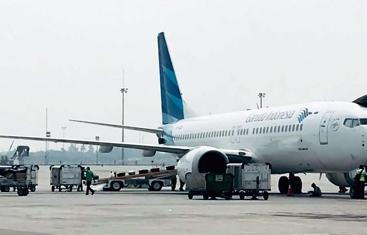 Máy bay của hãng hàng không Garuda tại sân bay Jakarta, Indonesia, ngày 15/5/2018. (Ảnh: AFP/TTXVN)