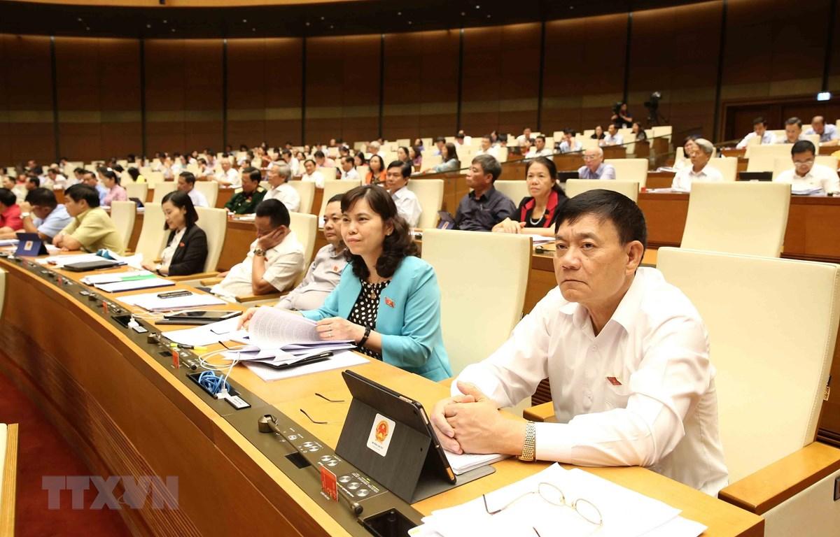 Đoàn Đại biểu Quốc hội tỉnh Bắc Ninh tại phiên họp. (Ảnh: Phương Hoa/TTXVN)