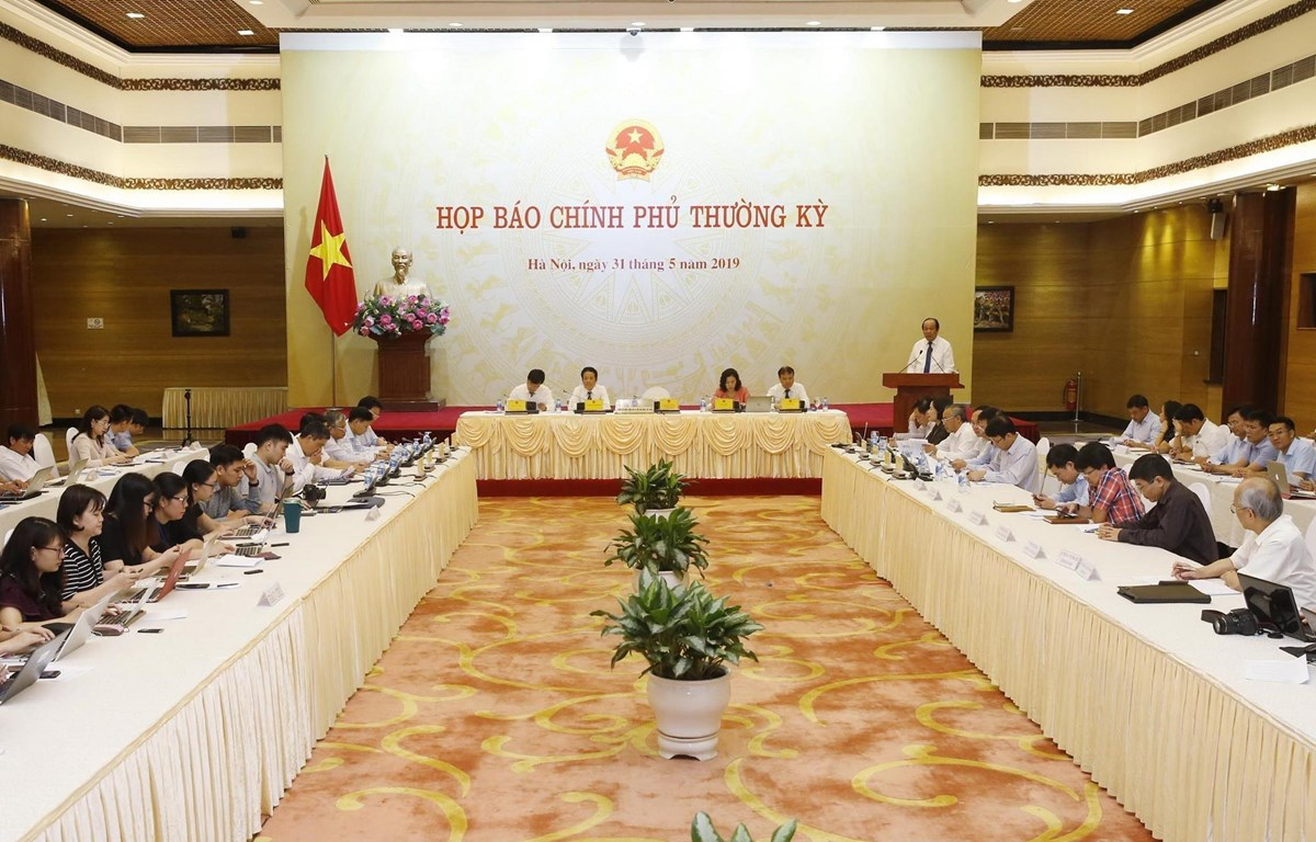 Quang cảnh buổi họp báo. (Ảnh: Lâm Khánh/TTXVN)