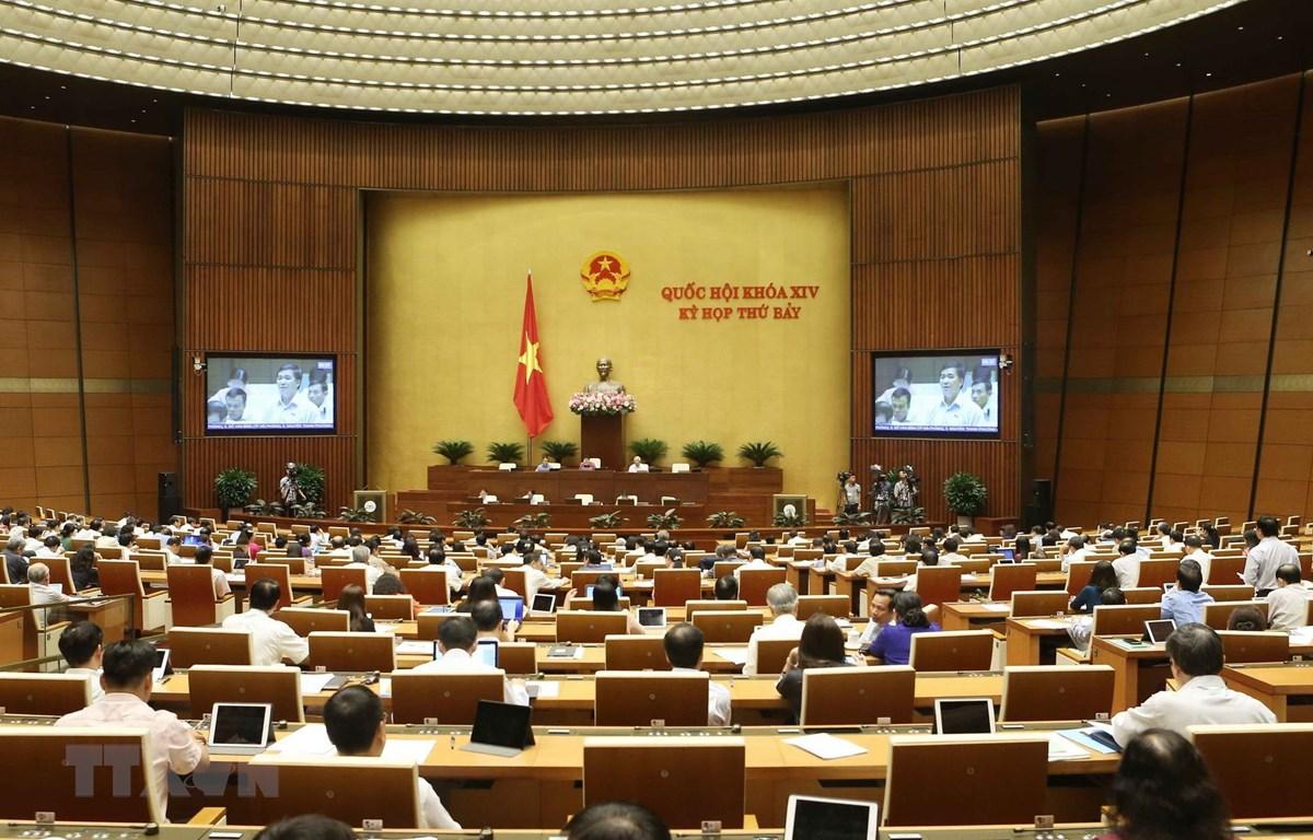 Quang cảnh phiên thảo luận tại hội trường Quốc hội sáng 12/6. (Ảnh: Doãn Tấn/TTXVN)