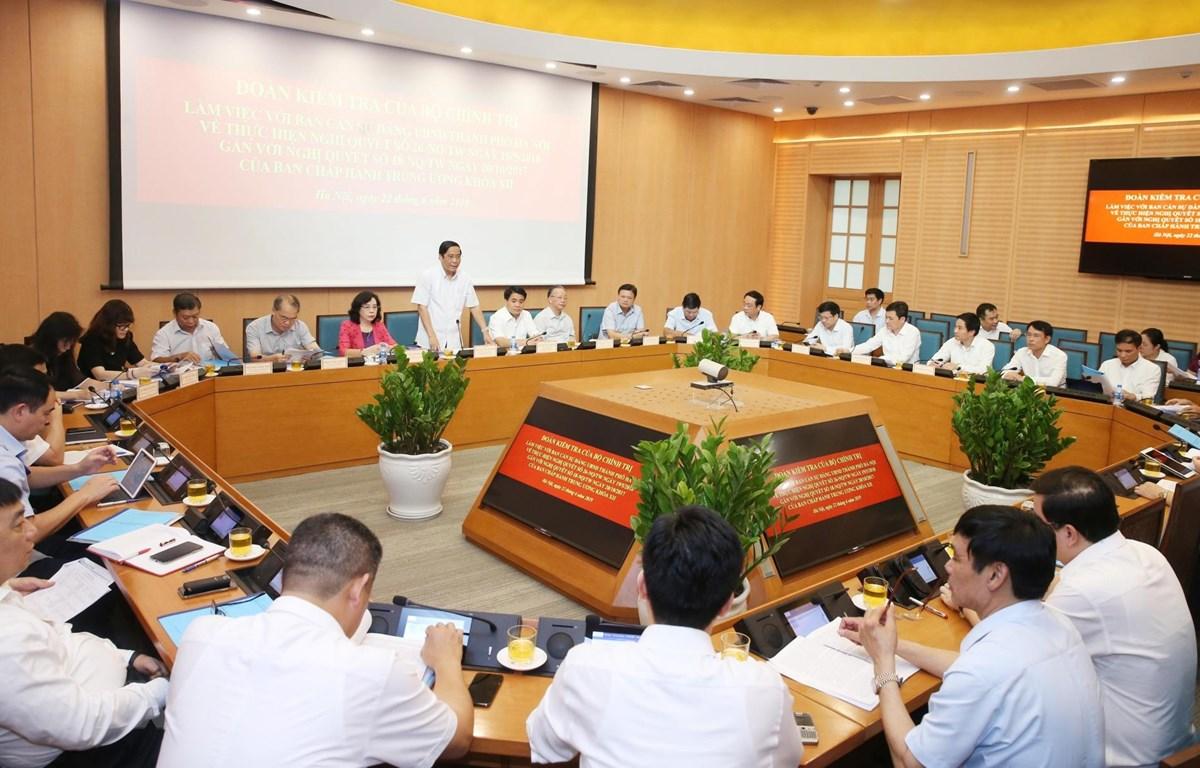 Phó Trưởng ban Thường trực Ban Tổ chức Trung ương Nguyễn Thanh Bình phát biểu chỉ đạo. (Ảnh: Lâm Khánh/TTXVN)