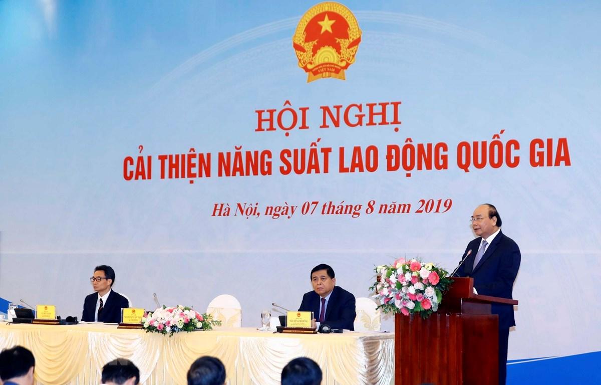 Thủ tướng Nguyễn Xuân Phúc phát biểu chỉ đạo. (Ảnh: Thống Nhất/TTXVN)