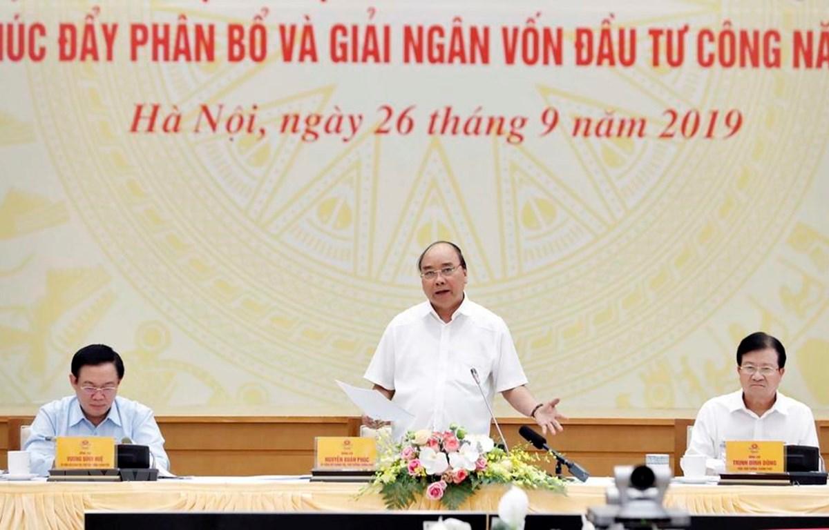 Thủ tướng Nguyễn Xuân Phúc phát biểu kết luận. (Ảnh: Thống Nhất/TTXVN)