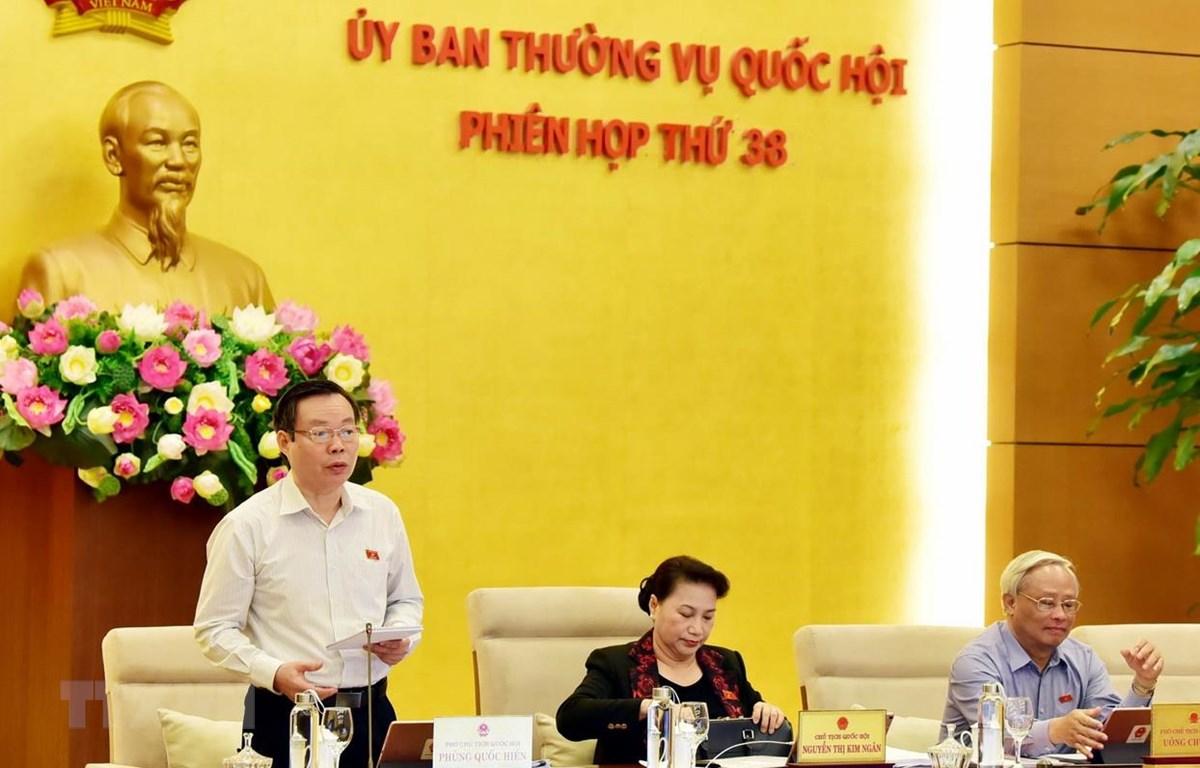 Quang cảnh phiên họp của Ủy ban Thường vụ Quốc hội. (Ảnh: Trọng Đức/TTXVN)