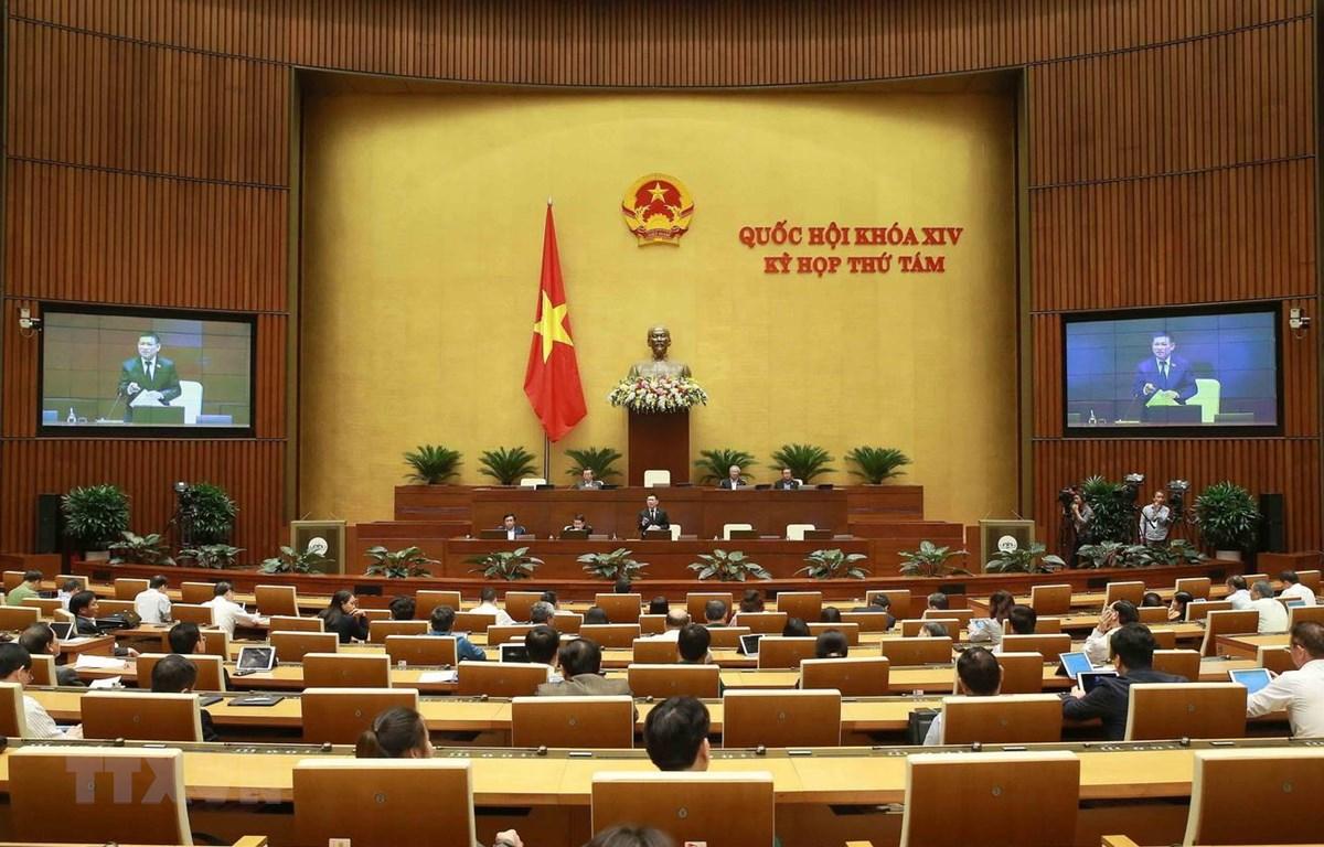 Tổng Kiểm toán Nhà nước Hồ Đức Phớc báo cáo, làm rõ một số vấn đề đại biểu Quốc hội nêu. (Ảnh: Doãn Tấn/TTXVN)