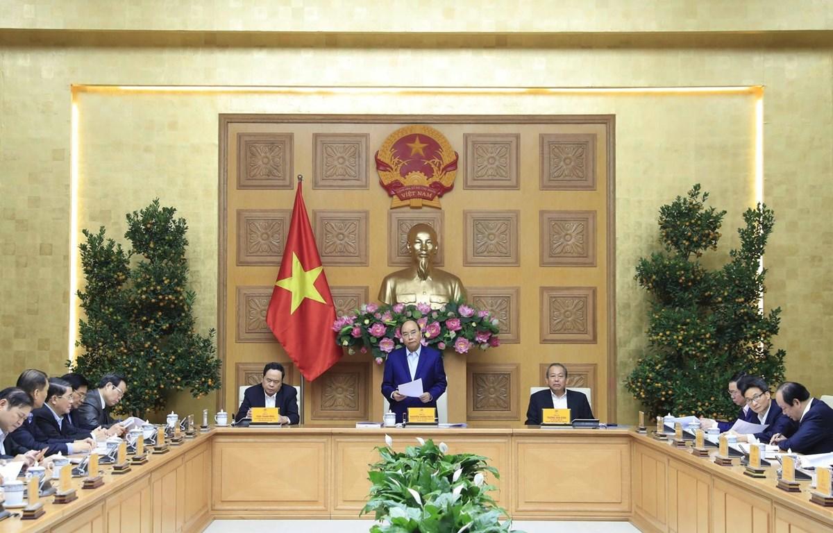 Thủ tướng Nguyễn Xuân Phúc, Trưởng Tiểu ban Kinh tế-Xã hội phát biểu. (Ảnh: Thống Nhất/TTXVN)