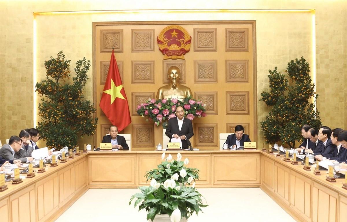 Thủ tướng Nguyễn Xuân Phúc chủ trì phiên họp. (Ảnh: Văn Điệp/TTXVN)