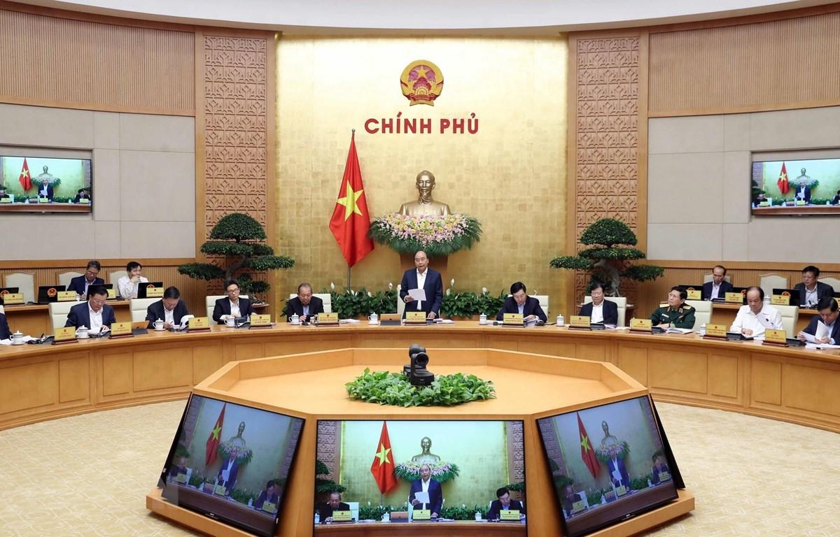 Thủ tướng Nguyễn Xuân Phúc chủ trì phiên họp Chính phủ thường kỳ tháng 2 năm 2020. (Ảnh: Thống Nhất/TTXVN)