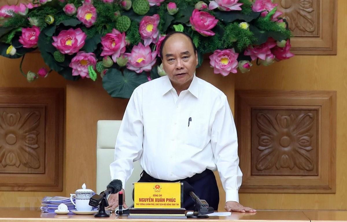 Thủ tướng Nguyễn Xuân Phúc, Chủ tịch Hội đồng-Thi đua khen thưởng Trung ương phát biểu. (Ảnh: Thống Nhất/TTXVN)