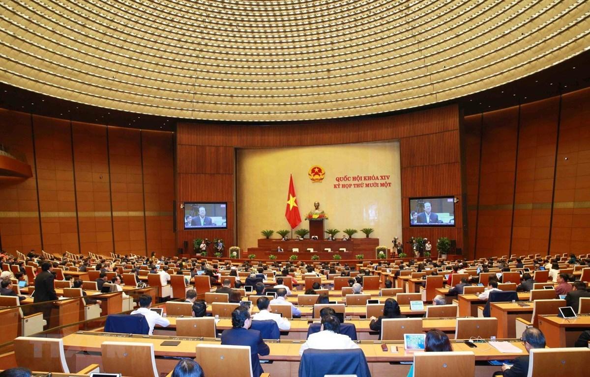 Quang cảnh phiên họp của Quốc hội. (Ảnh: Phương Hoa/TTXVN)