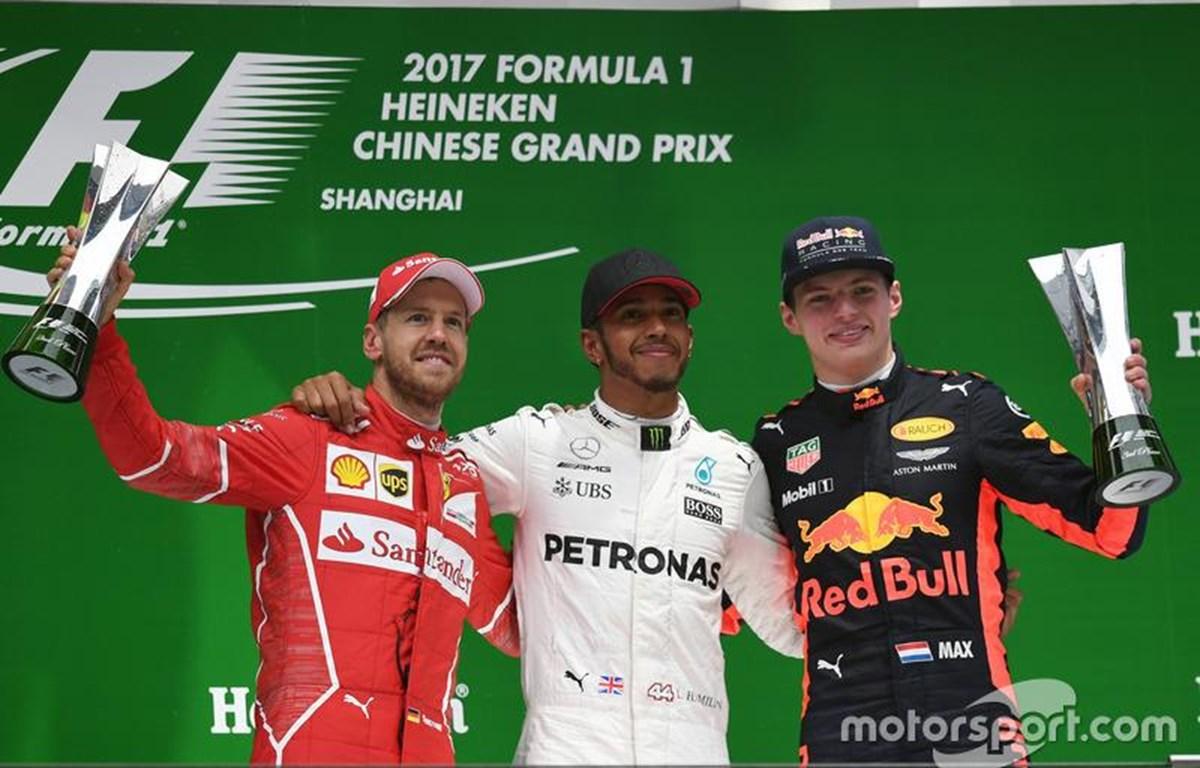 Vettel - Hamilton – Verstappe đang tạo lên cuộc đua hấp dẫn.(Ảnh: CTV)