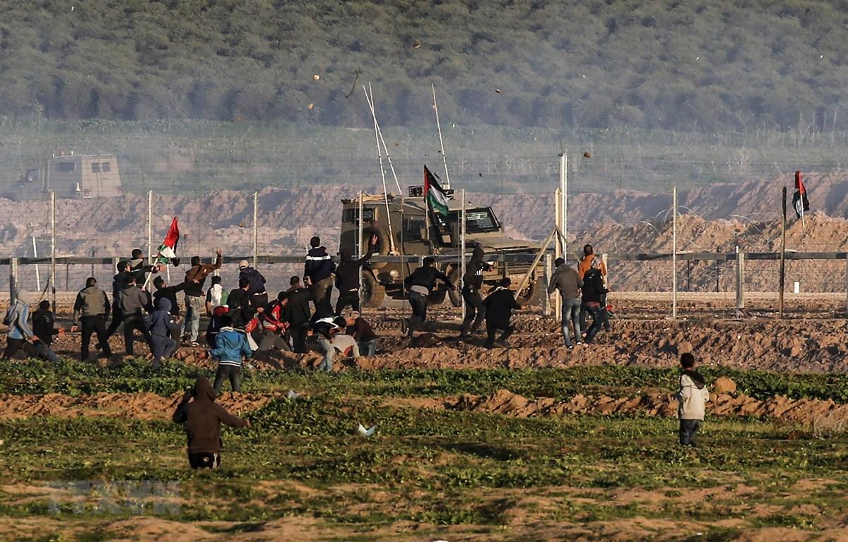 Hàng rào tại biên giới Dải Gaza và Israel, ngày 4/1/2019. (Ảnh: AFP/TTXVN)