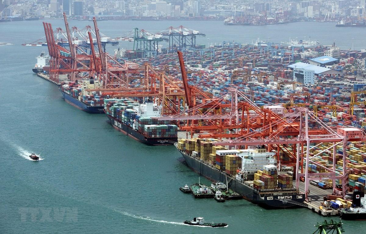 Quang cảnh cảng hàng hóa Busan, cách thủ đô Seoul của Hàn Quốc 450km về phía đông bắc. (Ảnh: AFP/ TTXVN)