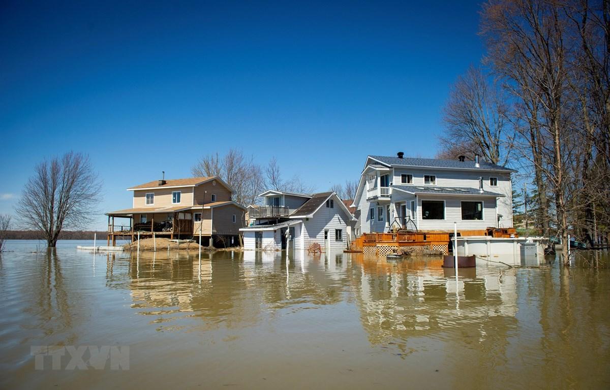 Cảnh ngập lụt tại Canada ngày 22/4/2019. (Ảnh: AFP/TTXVN)