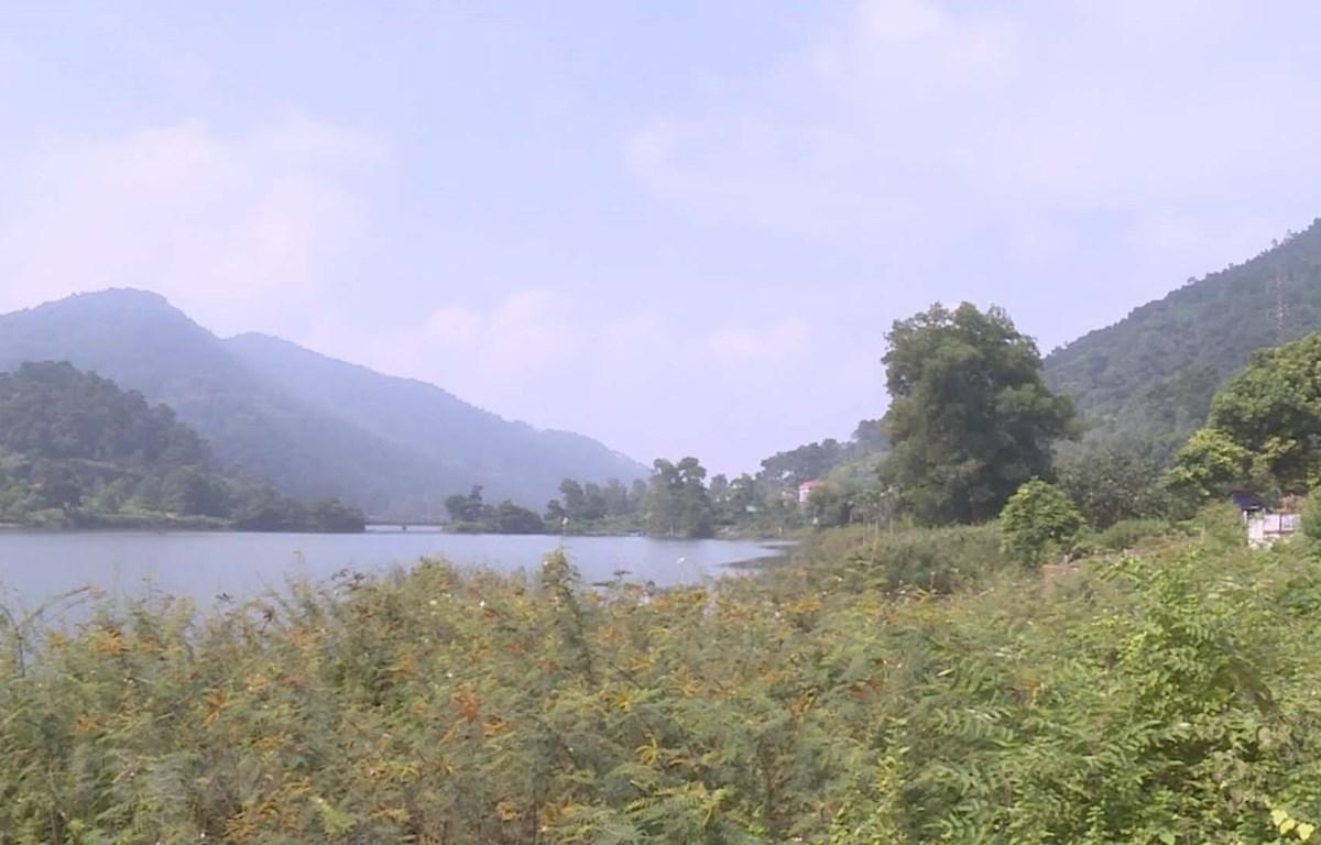 Một góc hồ Đồng Đò thôn Minh Tân, Minh Trí, Sóc Sơn Hà Nội. (Ảnh: Mạnh Khánh/TTXVN)