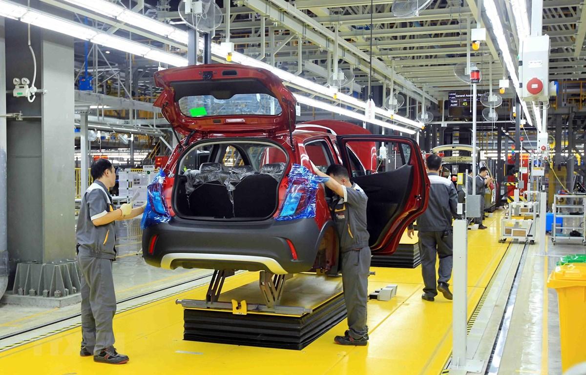 Nhà máy sản xuất ôtô VinFast tại Hải phòng. (Nguồn: An Đăng/TTXVN)