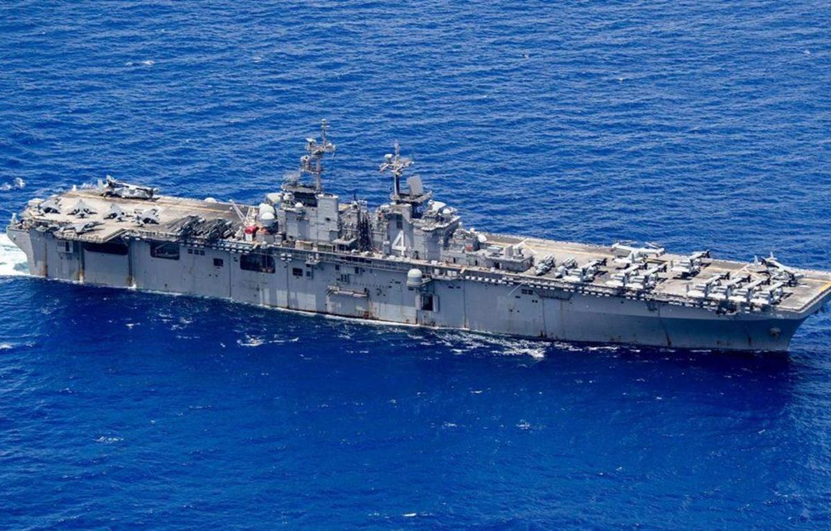 Tàu tấn công đổ bộ U.S.S Boxer. (Nguồn: thedefensepost.com)