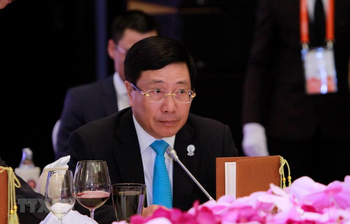 Phó Thủ tướng, Bộ trưởng Ngoại giao Phạm Bình Minh. (Ảnh: TTXVN phát)