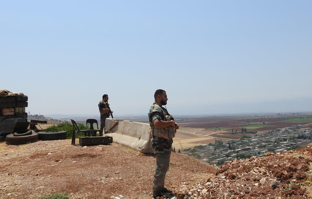 Binh sỹ Syria gác tại tỉnh Hama ngày 2/8/2019. (Ảnh: THX/TTXVN)