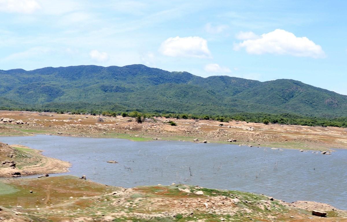 Nhiều hồ chứa nước ở Ninh Thuận sắp cạn kiệt, gây khó khăn cho sản xuất vụ mùa 2019. (Ảnh: Công Thử/TTXVN)
