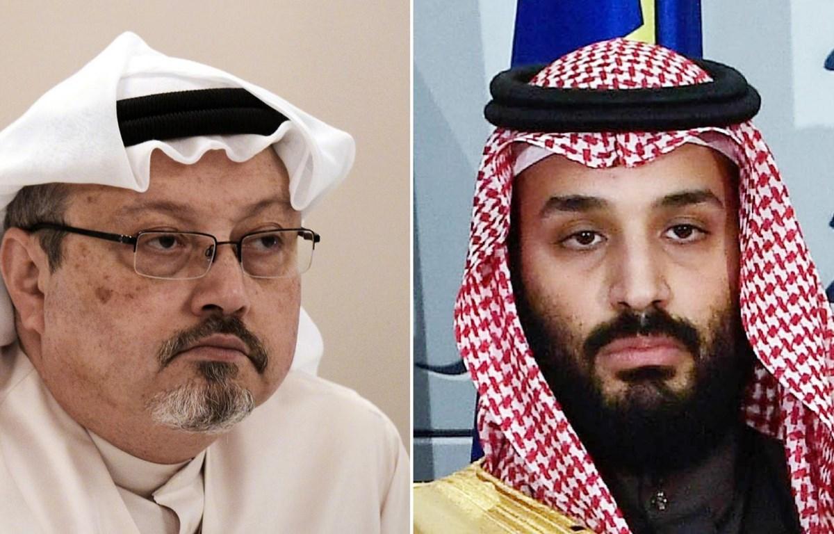 Nhà báo bị sát hại Jamal Khashoggi (trái) và Thái tử Saudi Arabia Mohammed bin Salman. (Nguồn: AFP)