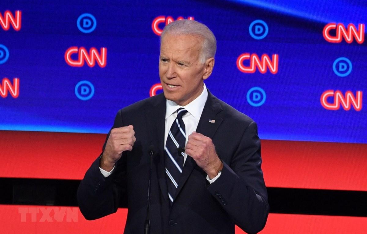 Cựu Phó Tổng thống Mỹ Joe Biden trong cuộc tranh luận trực tiếp với các ứng viên Tổng thống ở Detroit, Michigan ngày 31/7/2019. (Ảnh: AFP/TTXVN)