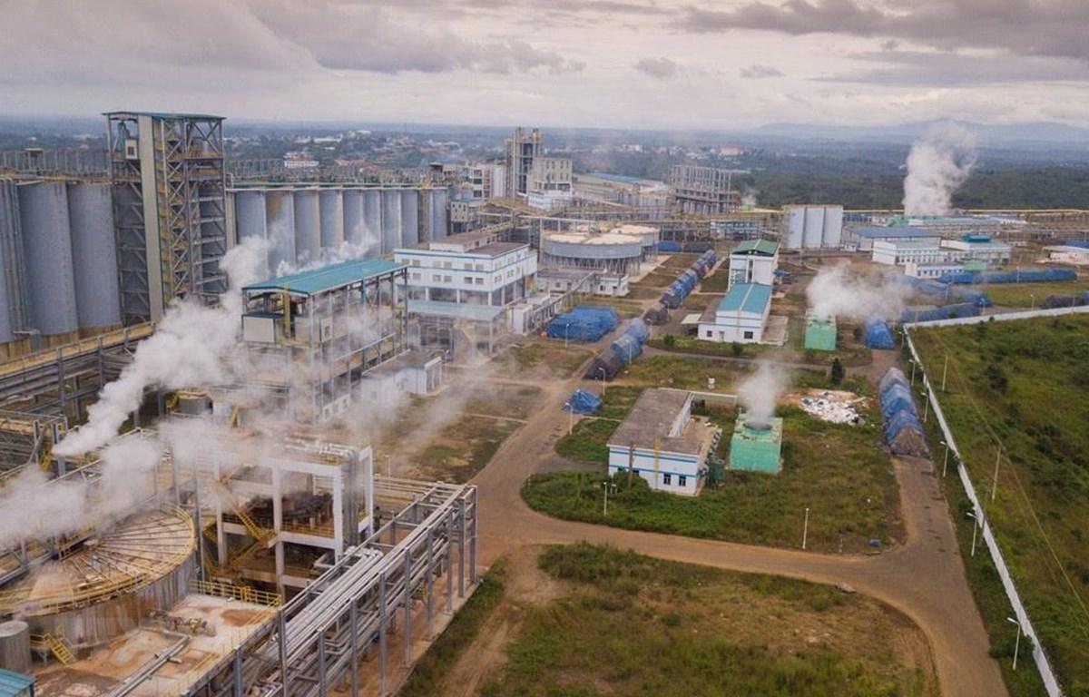 2 dự án nhà máy Alumin Tân Rai (Lâm Đồng) và Nhân Cơ (Đắk Nông), công suất thiết kế 650.000 tấn alumin/năm/nhà máy, do Tập đoàn Công nghiệp Than-Khoáng sản Việt Nam đầu tư, xây dựng, (Ảnh: Trọng Đạt/TTXVN)
