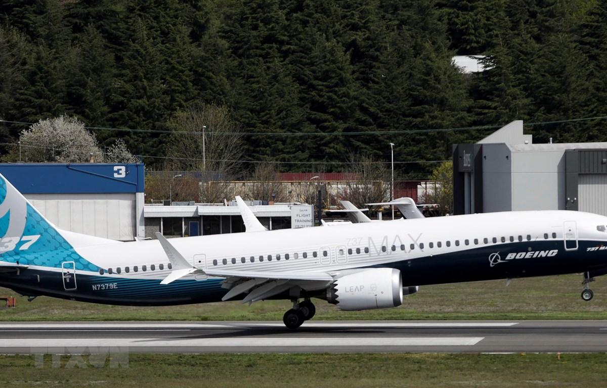 Máy bay Boeing 737 MAX 9 tại nhà máy của Boeing ở Seattle, Washington, Mỹ. (Ảnh: AFP/TTXVN)